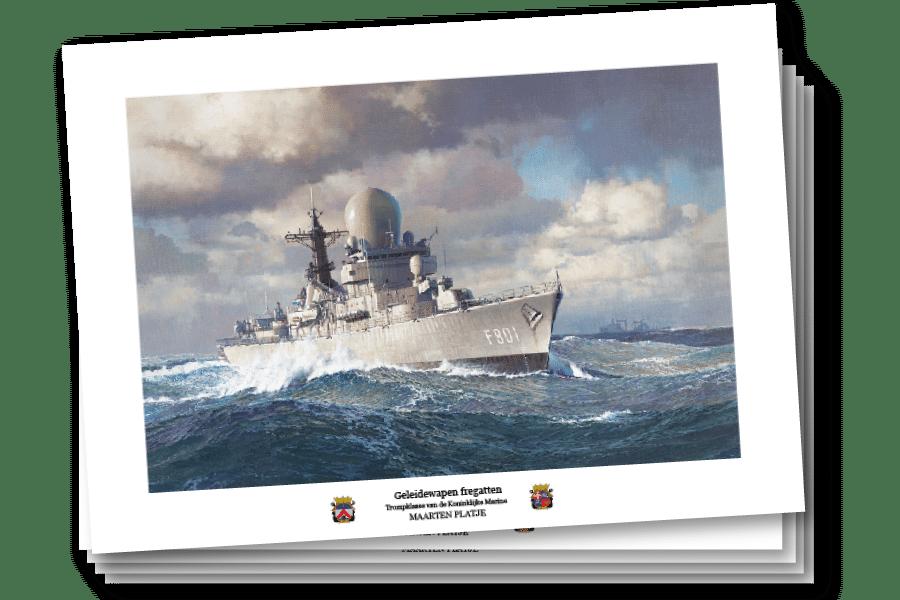 Ansichtkaarten - Geleidewapen Fregatten Trompklasse