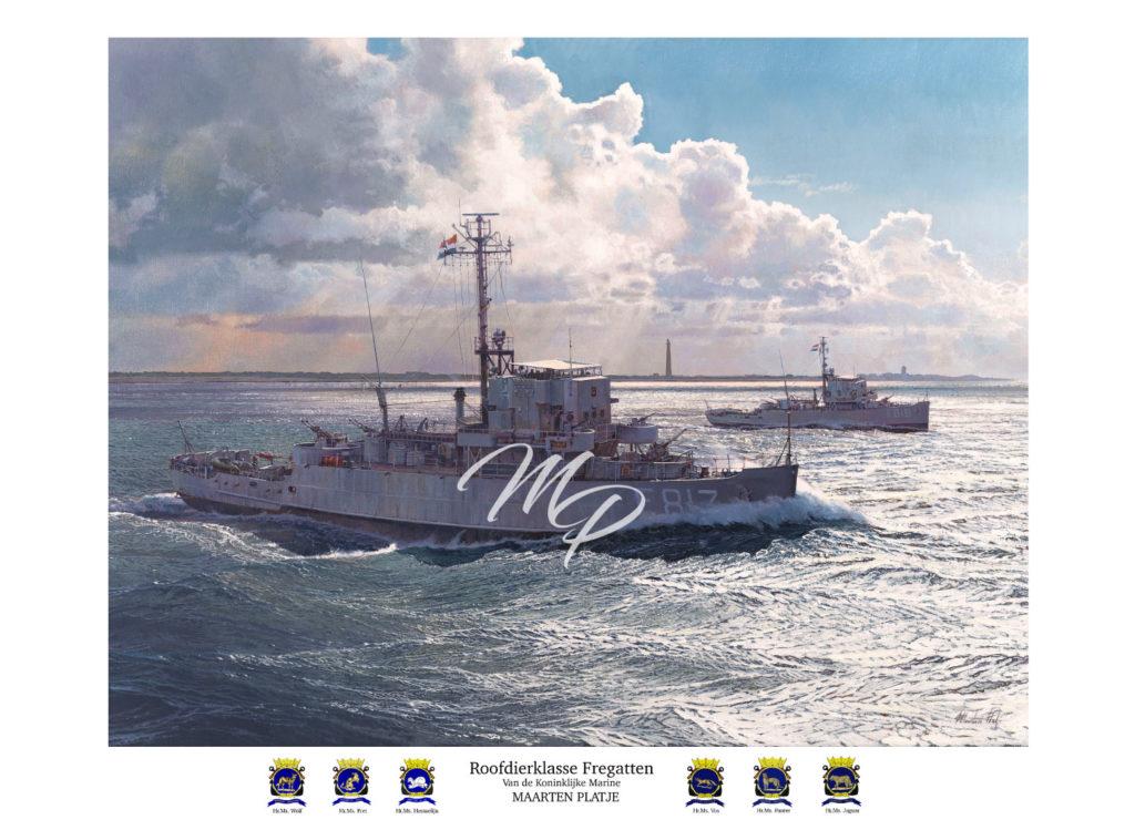 Art Print -Roofdierklasse fregatten