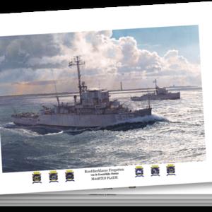 Ansichtkaarten A5 - Roofdierklasse fregatten